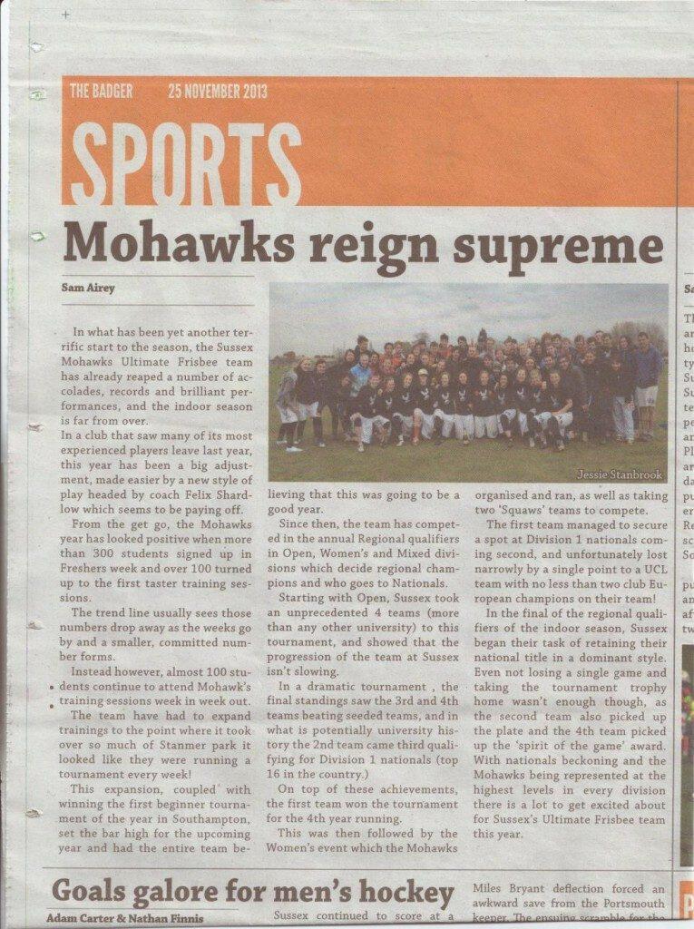 Mohawks Reign Supreme